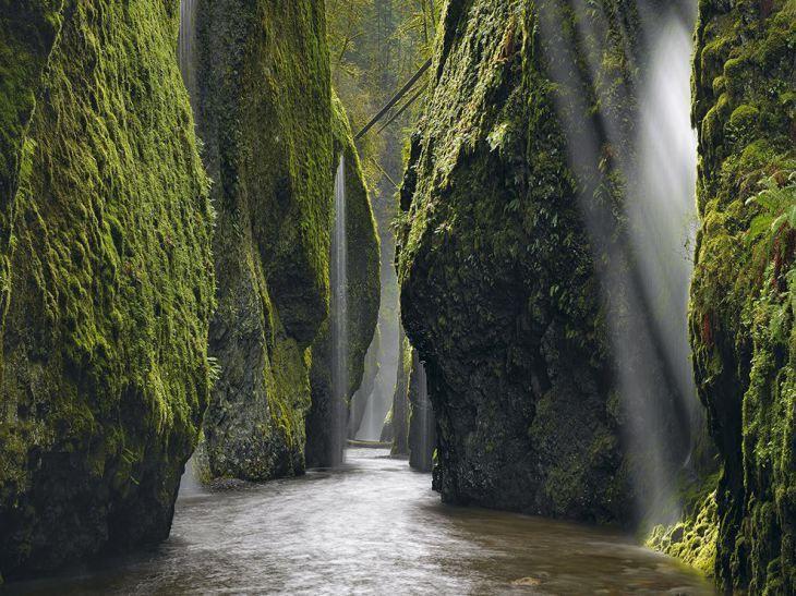 Φωτογραφία από το φαράγγι του ποταμού Κολούμπια στο Όρεγκον