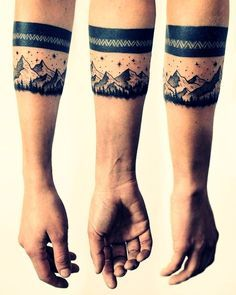 Masculine Armband Tattoo Designs for Men (14)