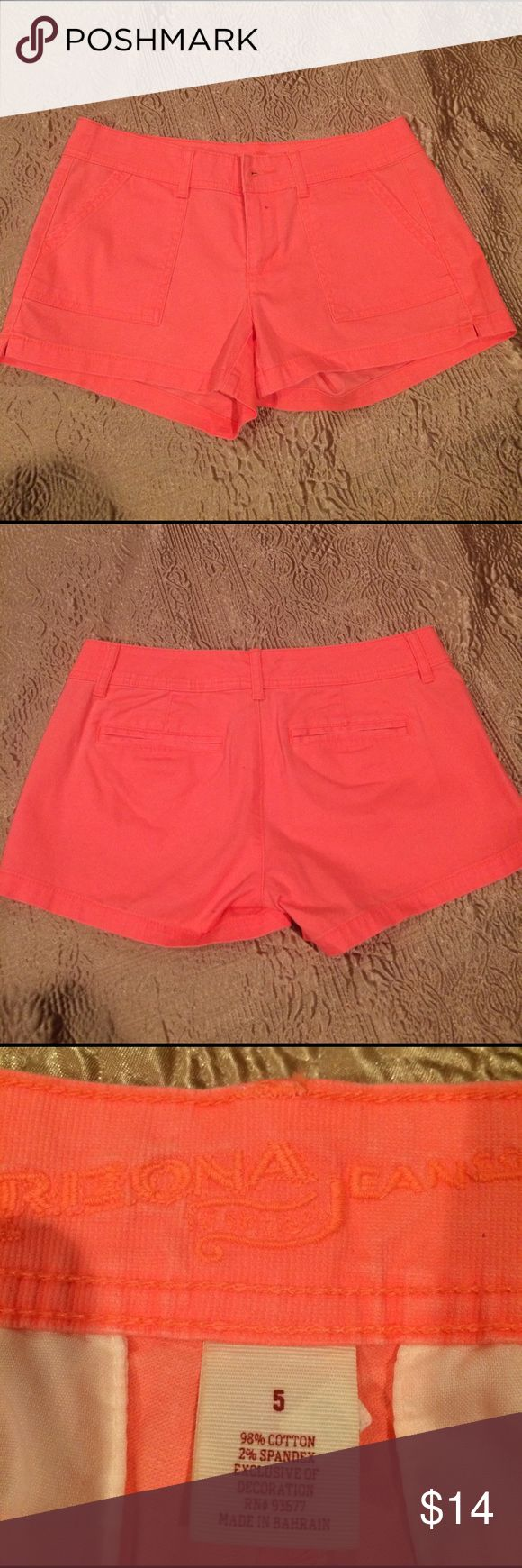 😃 peach shorts Peach cotton shorts. Excellent condition. Arizona Jean Company Shorts Jean Shorts