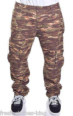 Ecko Unltd. Mens Tiger Camo Print Slim Fit Cargo Pants Size 32 x 31