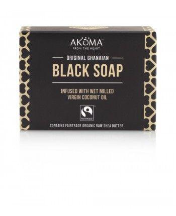Akoma African Black Soap. Ekologisk & Fairtrade. Den har naturligt helande egenskaper och kan användas för en rad olika hud- och hårproblem. Extremt djuprengörande och passar för såväl kropp- som hårtvätt.