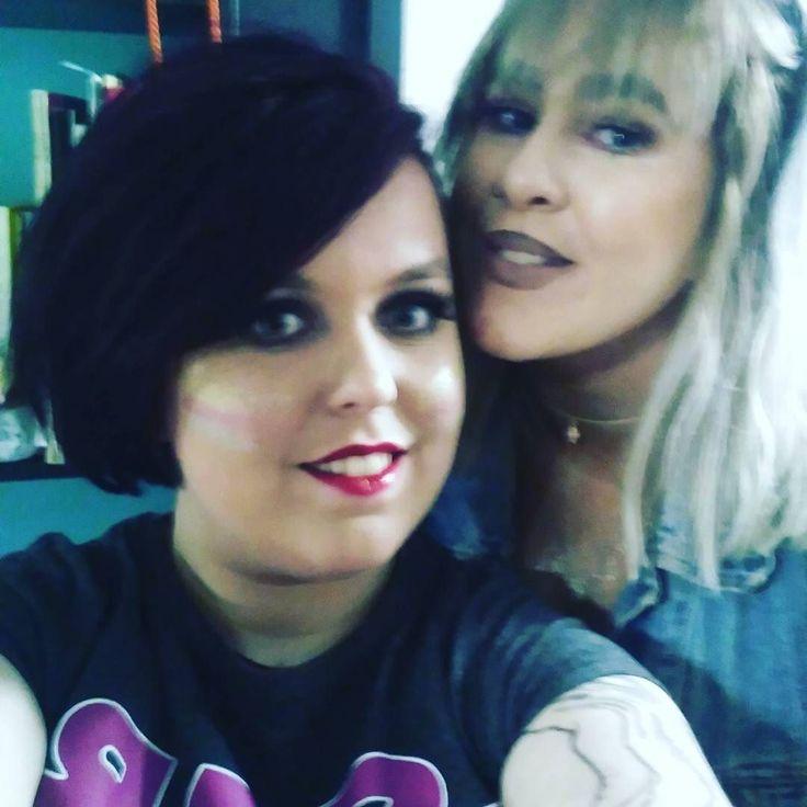 @biology4carla and I glitter party agogo