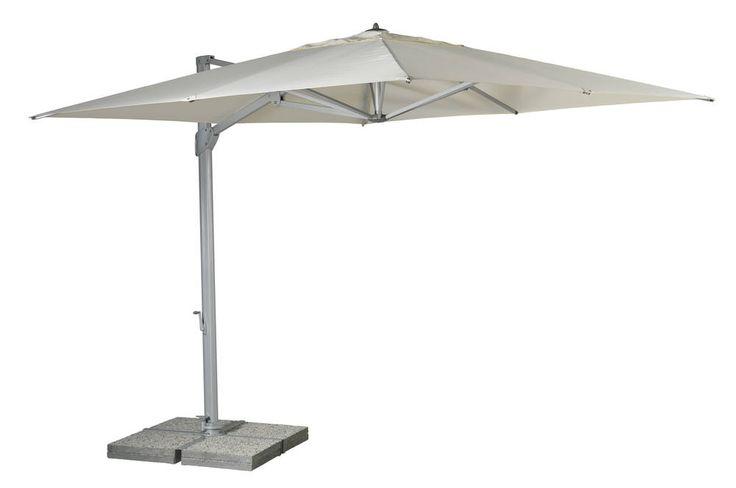 Sonata, zij arm parasol met parasolvoet | Symo Parasols