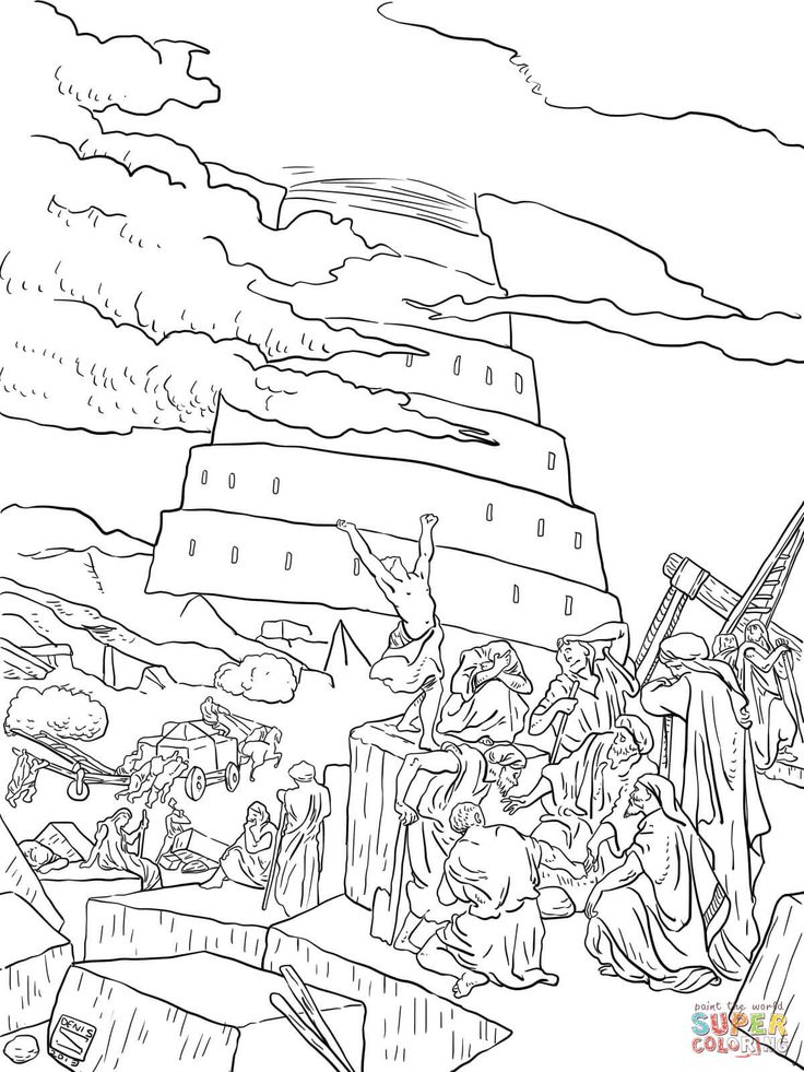 43++ Free bible coloring pages tower of babel ideas
