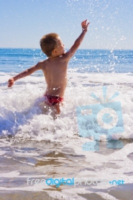 Young Child Playing In Sea No matter where we are we live in the skin package given at birth. To protect is so important