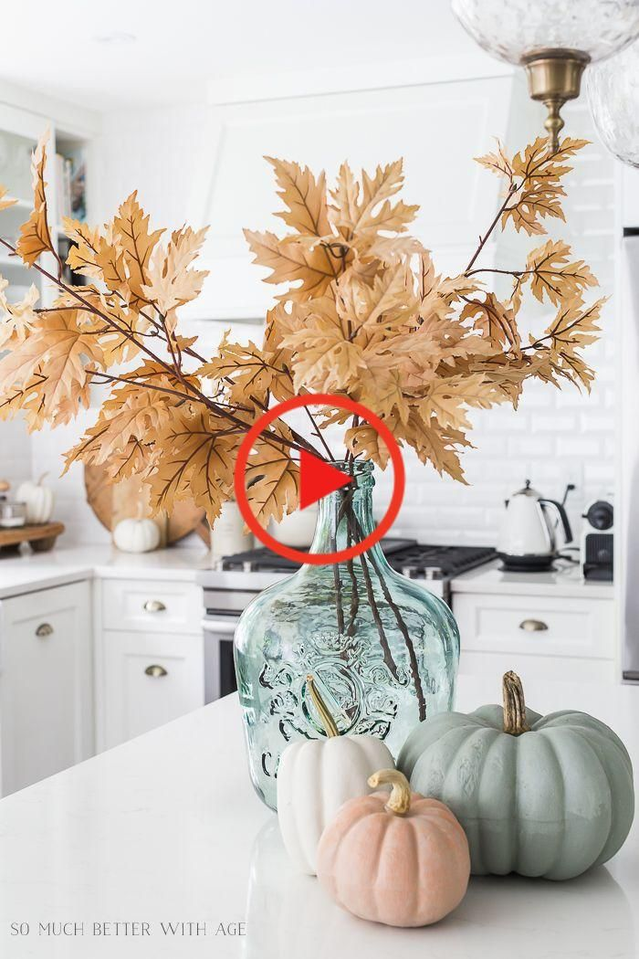 Decorating Ideas With Muted Fall Colors Video In 2020 Farmhouse Fall Decor Fall Decor Diy Fall Home Decor