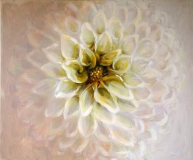 Unfolding Dahlia like a mandala by artist Kamille Saabre