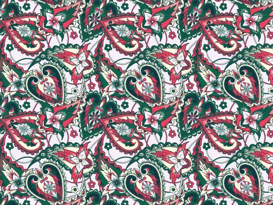 """christmas paisley"" by momotaro Christmas, paisley, yncolor"