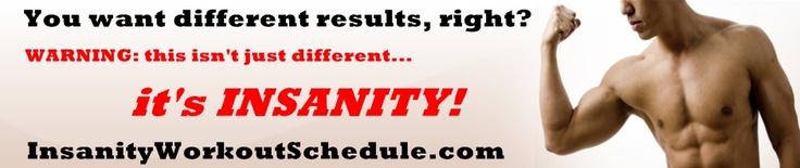 Insanity Workout Schedule Calendar -