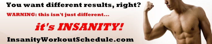 Insanity Workout Schedule Calendar -