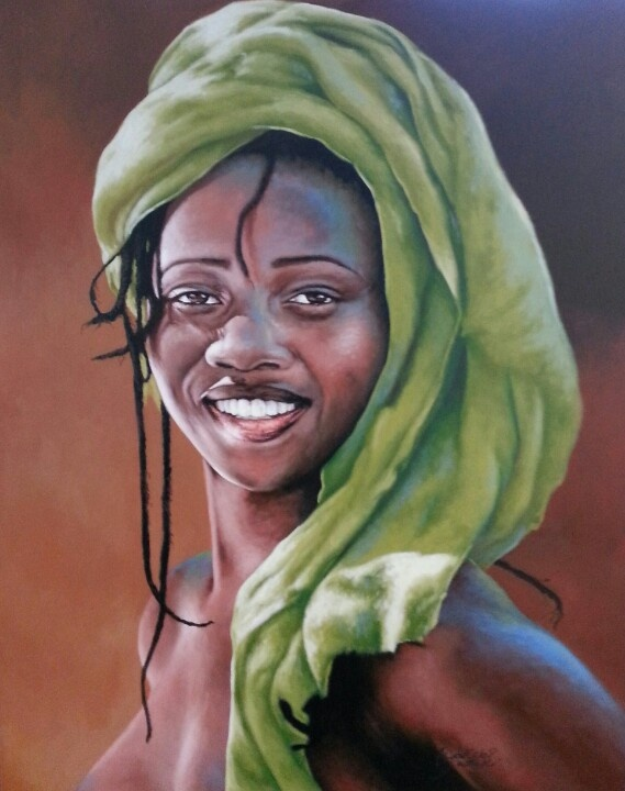 Wakaba Mutheki - oil on canvass 1.5 x 1.2 m