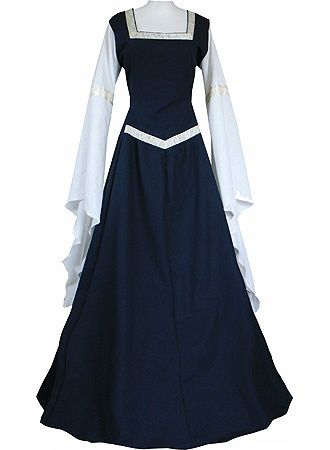 The uniform worn by all the women at the convent: a white underdress symbolizing inner purity, a blue overdress symbolizing outer piety and virtue.