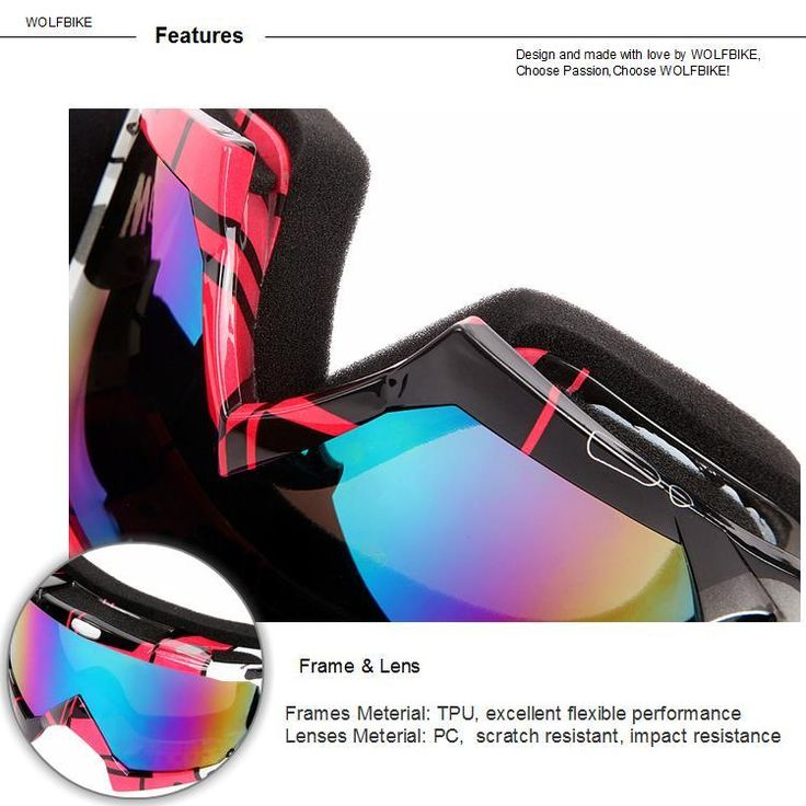 WOSAWE BYJ-017 UV400 Protection Ski Goggles Sports Snowboarding Skate Snow Sunglasses Eyewear Sale - Banggood.com