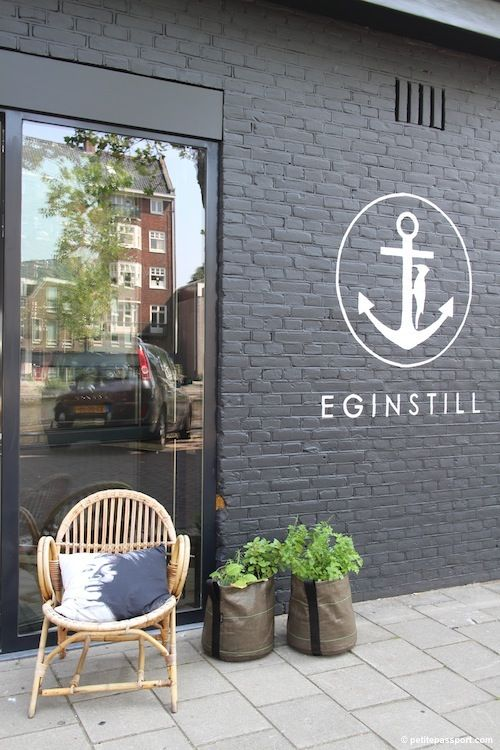white paint on slate brick. fingers crossed ours turns out this well! EginStill, Amsterdam, Netherlands