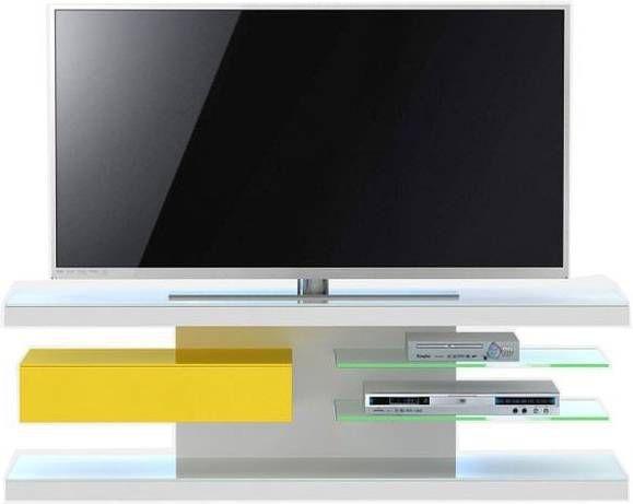 Jahnke Moebel TV meubel SL 660 LED Wit/Geel online kopen