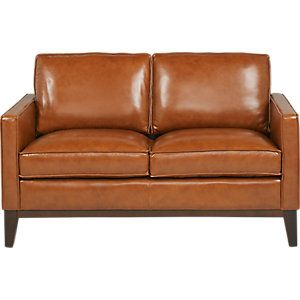 Greenwich Sienna Brown Leather Loveseat clicking on image will open up a modal window for this item
