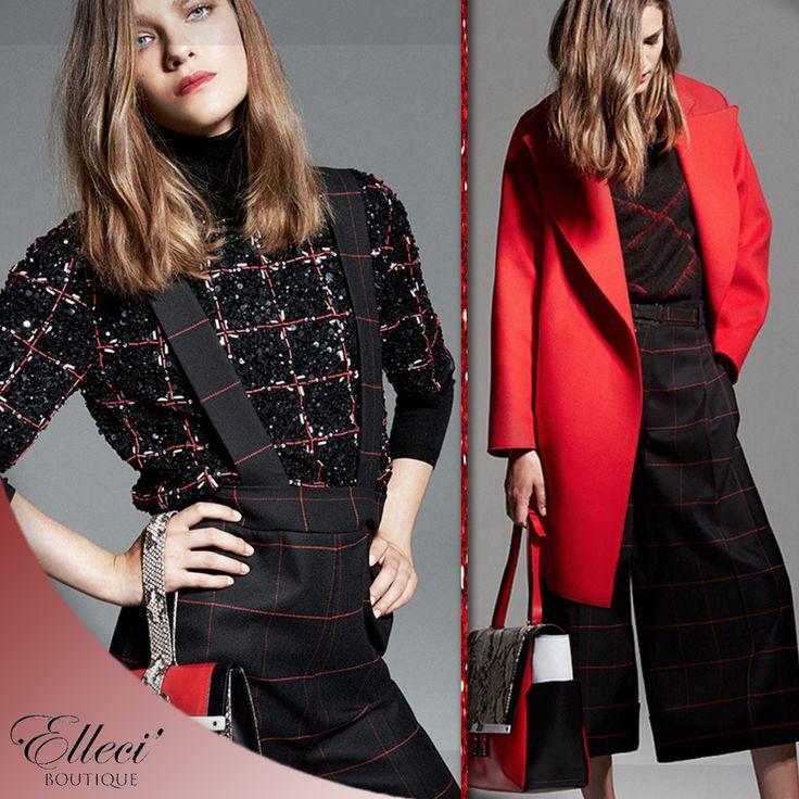 """Dal rosso acceso alle sfumature di bordeaux, vinaccia e burgundy: è impossibile fare a meno di un pizzico di """"red"""" nei vostri outfit natalizi. Se siete più audaci osate con interi #totalook, oppure testatelo a piccole dosi su accessori, scarpe o camicie!  #Ellecìboutique ---> http://bit.ly/1QBi9Rl  #thespacestyleconcept #red #outfit #dresscode #christmastime #gift #30yearsoffashion """