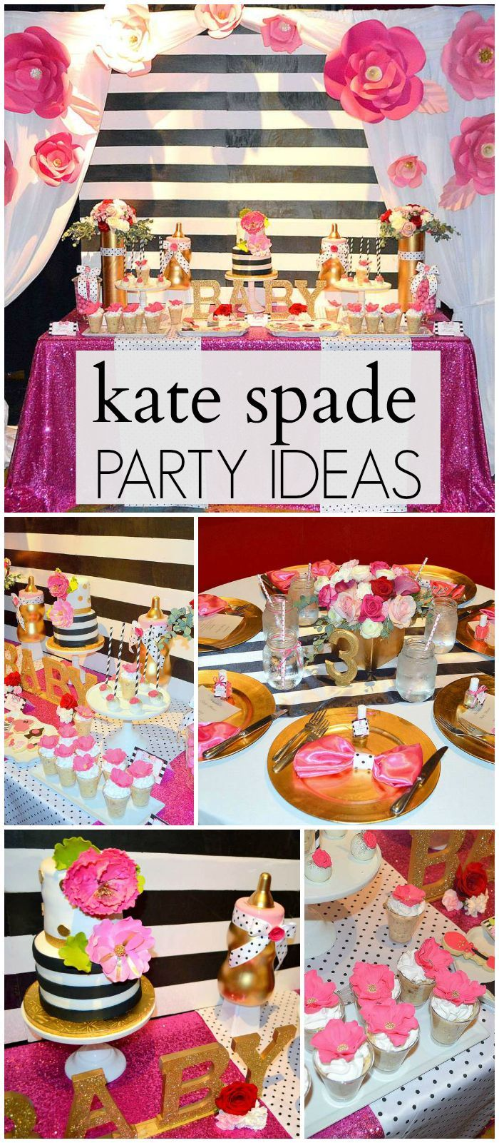 Kate spade baby shower kate spade inspired baby shower for Baby decoration party