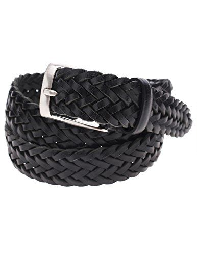 FLATSEVEN Mens Braided Elastic Stretch Leather Belt with Square Silver Buckle (Y413), Black FLATSEVEN http://www.amazon.com/dp/B00OOS258E/ref=cm_sw_r_pi_dp_cD01ub0JRKAFE