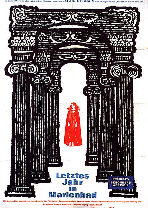 "Tostmann, Poster ""Letztes Jahr in Marienbad, Alain Resnais"", 1961. Germany"