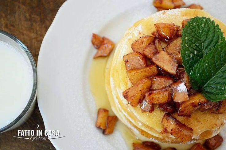 Apple Cinnamon Pancakes Fatto in casa è più buono