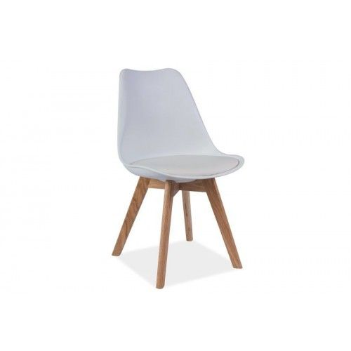 Stuhl   Holz-Weiß
