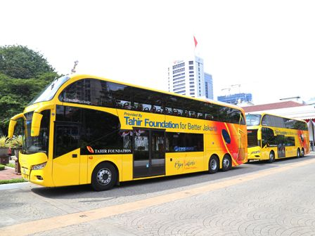 Lima Bus Tingkat Hibah Siap Beroperasi