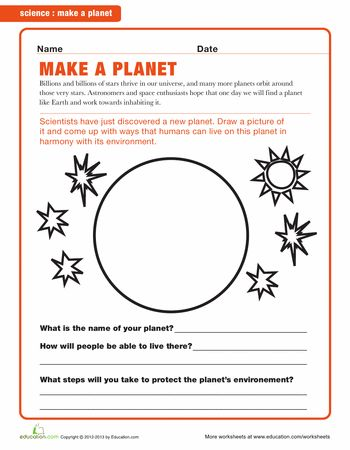 worksheets planets and articles on pinterest. Black Bedroom Furniture Sets. Home Design Ideas