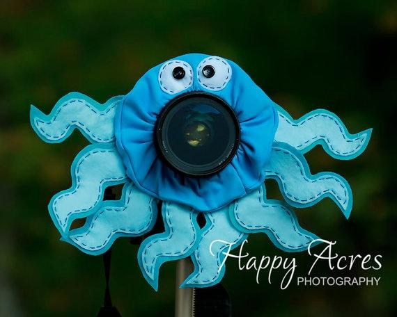 Lens Bling  Octopus Ready to Ship by HappyAcresFarm on Etsy, $19.00