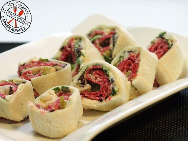 Rollitos de salami | Hoy comemos