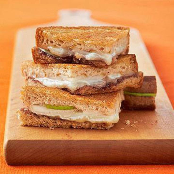 Gooey Grilled Cheese - Fitnessmagazine.com. Healthy grilled cheese sandwiches