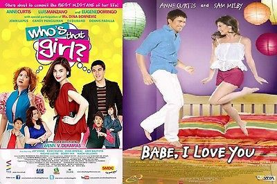Filipino DVD 2 for 1 WHO'S THAT GIRL? + BABE, I LOVE YOU Anne Curtis Ships free