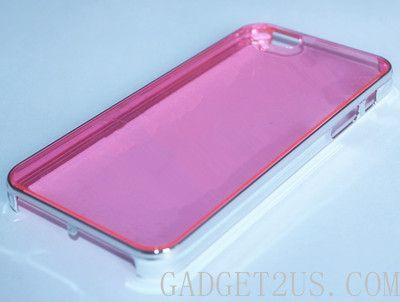 Plating CRISTAL Hard Shell Anti-Scratch Transparent Case for iPhone 5S