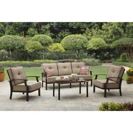 Better Homes And Garden Carter Hills Outdoor Conversation Set Seats 5 Gardens Home And Furniture