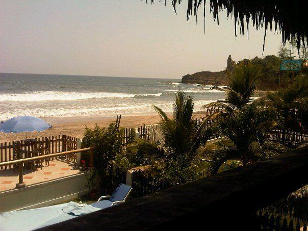 View from Hostel Sole Mare - Montañita Ecuador