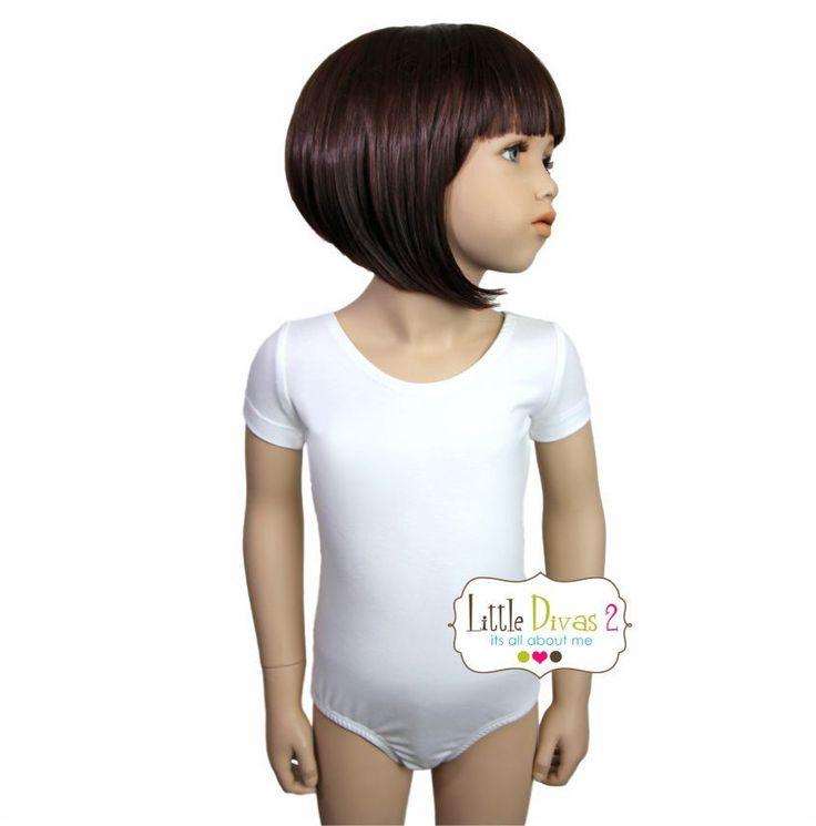 WHITE LEOTARD (Child) Short Sleeve