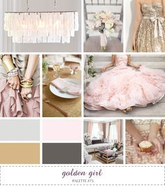pink, gray, gold , mint paint pallet - Google Search
