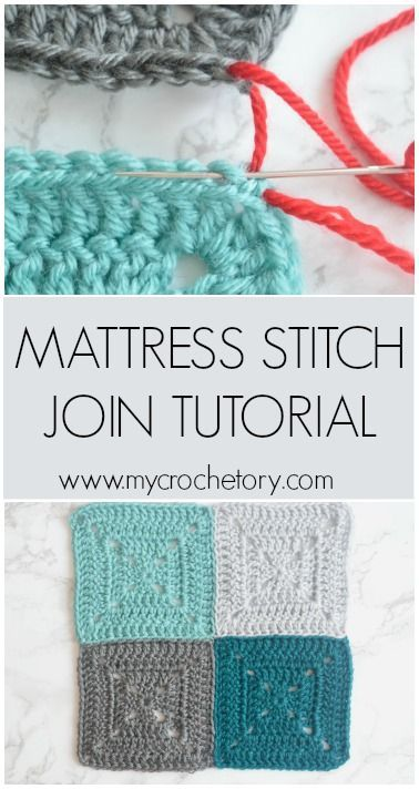 Mattress Stitch Join Tutorial – MyCrochetory (Sylwia)