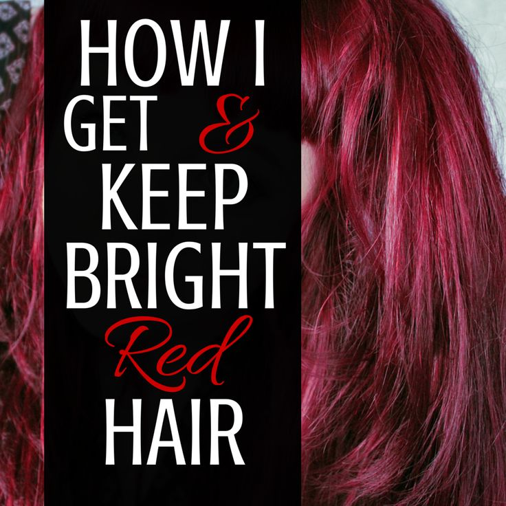 Here is exactly what I do to keep and maintain my bright red hair. There is no bleach allowed to this party!