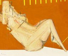 830/967 - Wilhelm Freddie: Reclining woman. Signed Freddie 71. Oil on canvas. 54 x 65 cm.