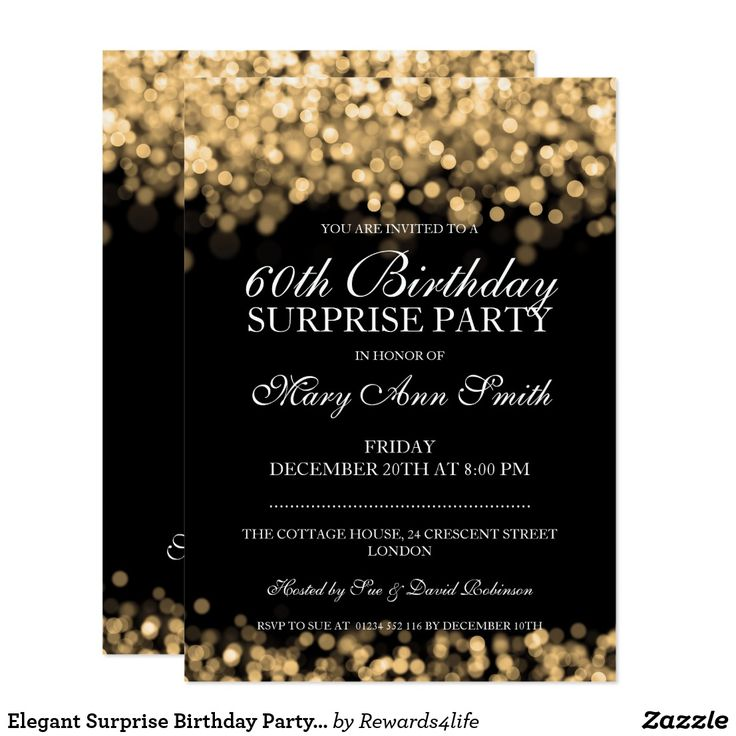 96 best Birthday Invites 60th images – Surprise Party Birthday Invitations