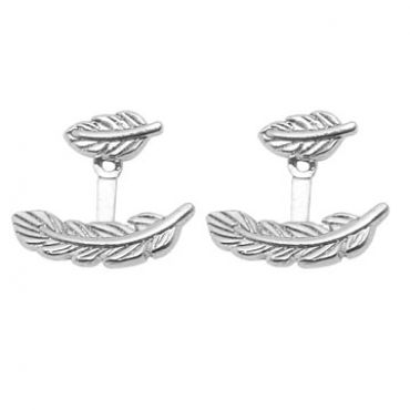 Maui Earrings in Silver - available in gold and silver.$24.00 Get 25% off these earrings with coupon code 'foxy pin' www.foxyoriginals... #silverjewelry, #silverearrings, #foxyoriginals, #earjackets, #sistergift, #silverearjackets, #jewelrygift, #cutepackaging, #holidaygift, #birthdaygift, #momgift, sister gift, jewelry gift, best friend gift, holiday gift, teenager gift, birthday gift, silver jewelry, cute packaging, gold packaging
