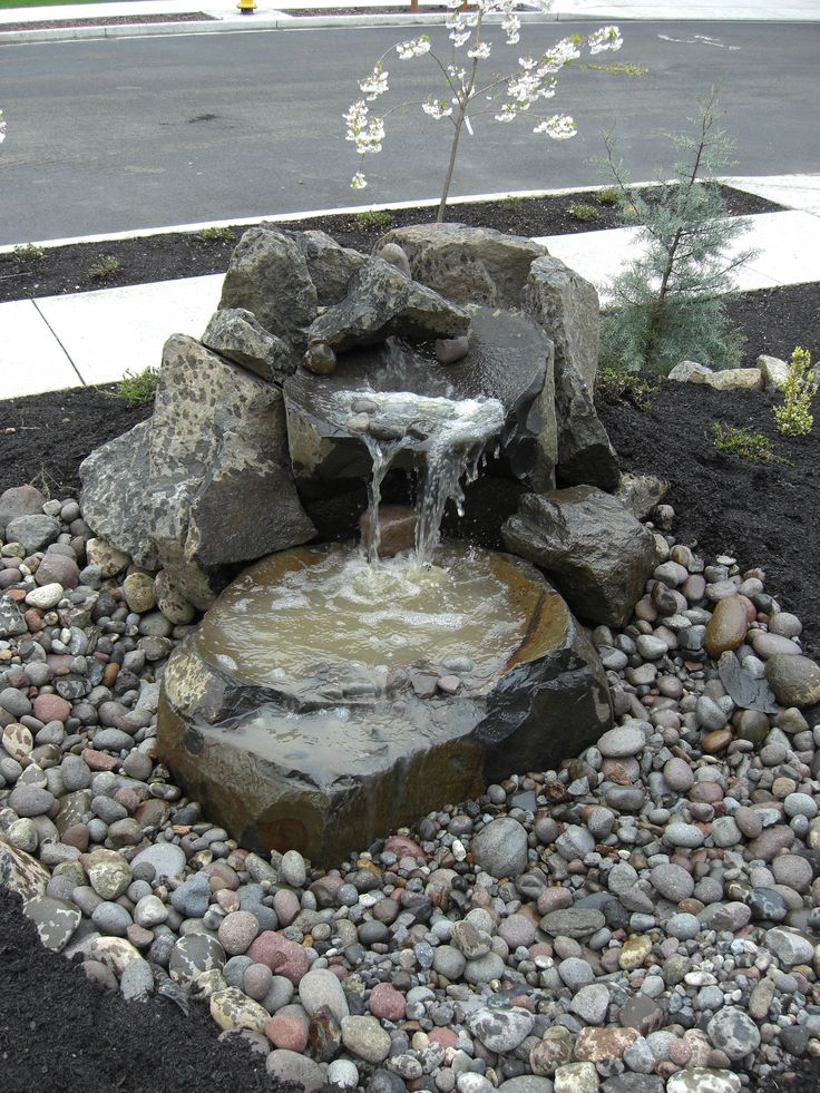rustic landscaping ideas for front yard - Google Search - quellsteine selber bauen