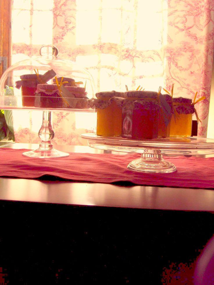 delizie invernali - confettura di zucca dolce, marmellate di arancia, mandarancio e mandarino