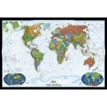 National Geographic World Decorator Wall Map Tubed