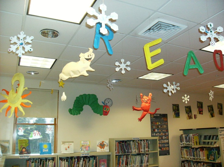 132 best images about library decoration theme on pinterest for Back to school wall decoration