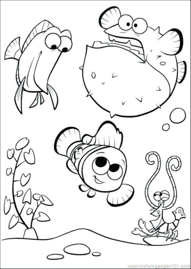 Fish Tank Coloring Page Youngandtae Com Finding Nemo Coloring Pages Nemo Coloring Pages Fish Coloring Page