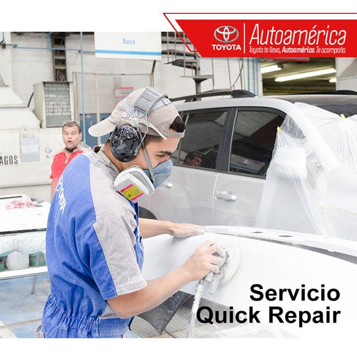 Porque tu #Toyota es tu consentido, utiliza nuestro servicio #QuickRepair para daños leves en #AutoaméricaIndustriales. Solicita tu cita en:https://goo.gl/MXFZam ¡estará listo en tan solo 4 horas!
