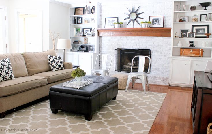 Our family room was quite dated with a red brick fireplace and builder beige walls. Description from astrollthrulife.net. I searched for this on bing.com/images