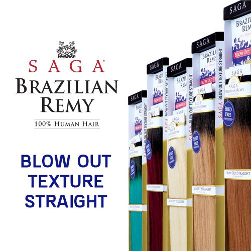 Milk Way Remy Human Hair Weave SAGA Brazilian Blow Out Straight